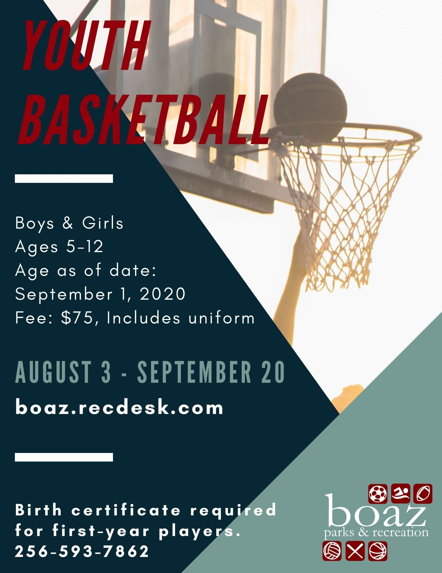 2020 Basketball Flyer - Red