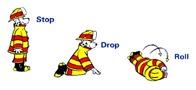 Stop, drop, and roll demonstration