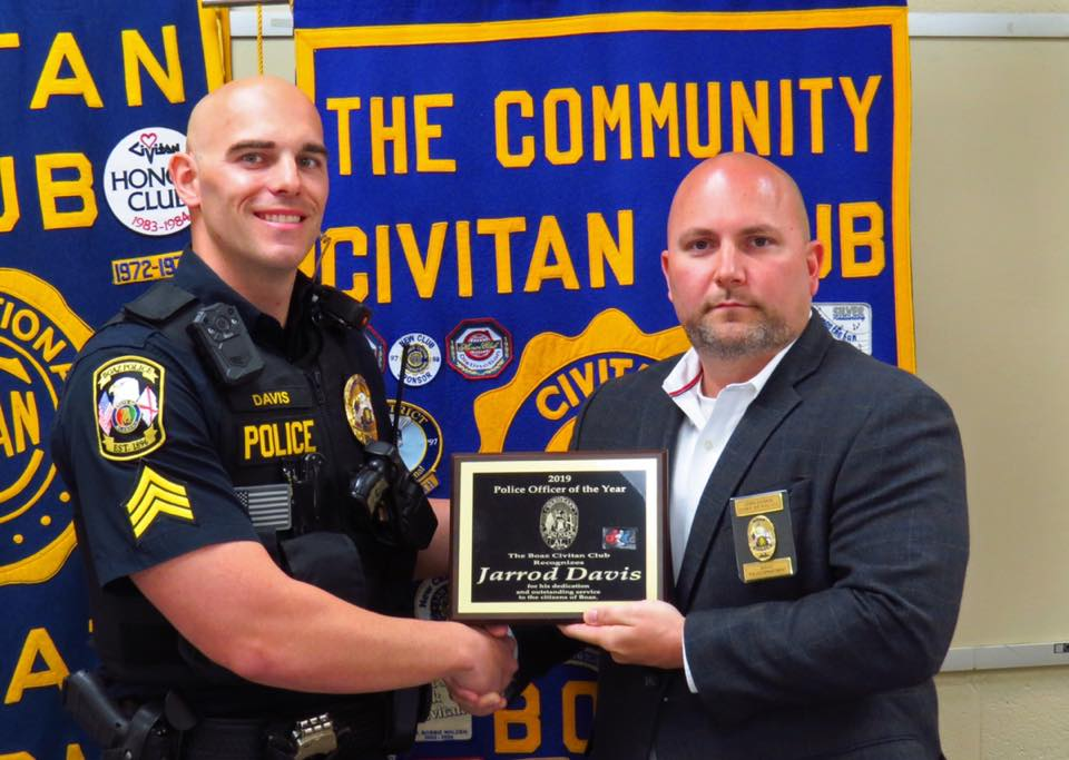 Policeman of the Year Sergeant Jarrod Davis