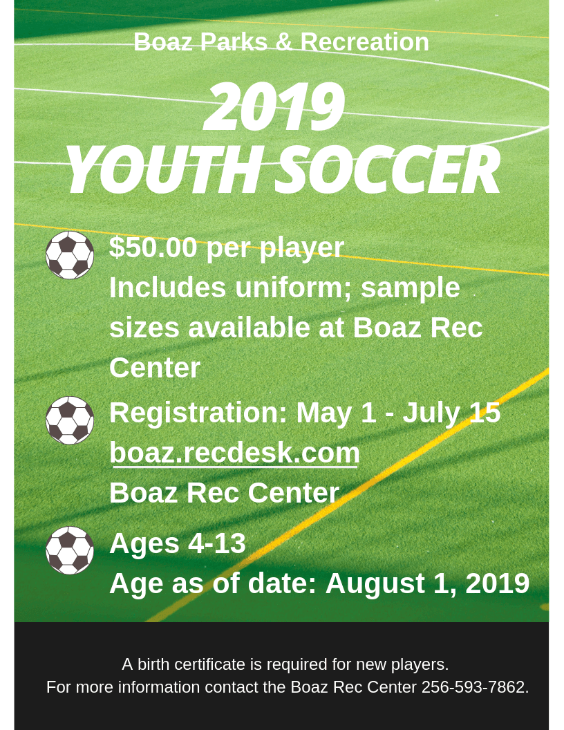 2019 Youth Soccer