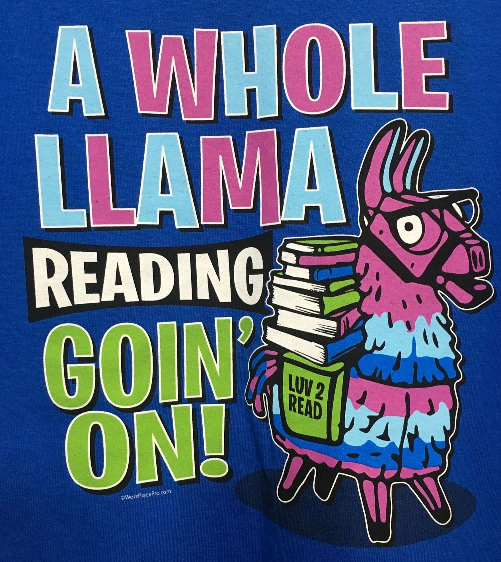A Whole Llama Reading Goin' On