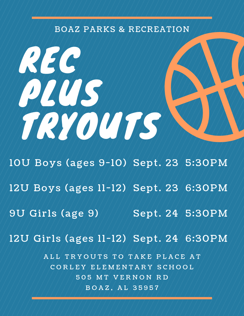 Rec Plus Basketball Tryouts