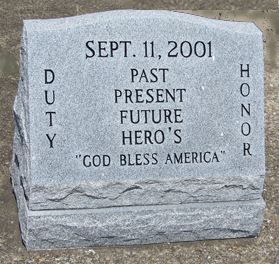 Remembering 911 Headstone